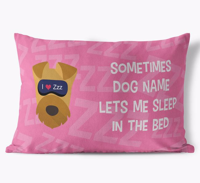 Soft Touch Cushion with Sleepy Airedale Terrier Icon