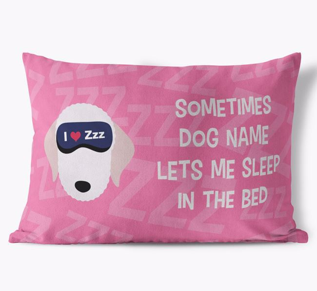 Soft Touch Cushion with Sleepy Bedlington Terrier Icon