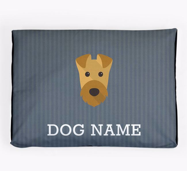 Personalised Dog Bed for your Airedale Terrier