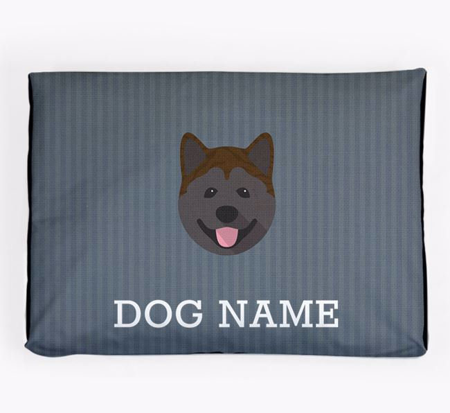 Personalised Dog Bed for your Akita