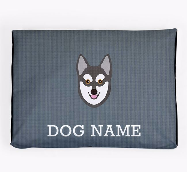 Personalised Dog Bed for your Alaskan Klee Kai