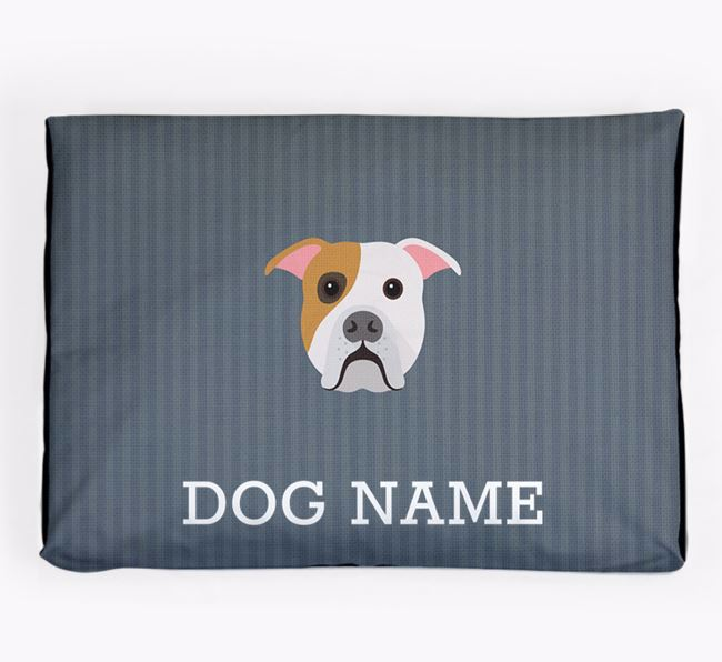 Personalised Dog Bed for your American Bulldog