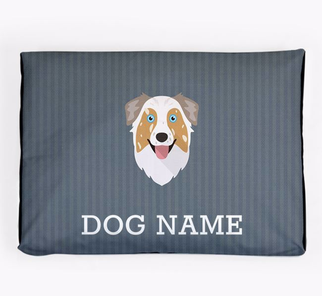 Personalised Dog Bed for your Australian Shepherd