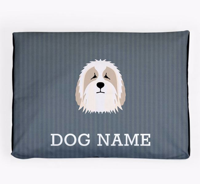 Personalised Dog Bed for your Bearded Collie