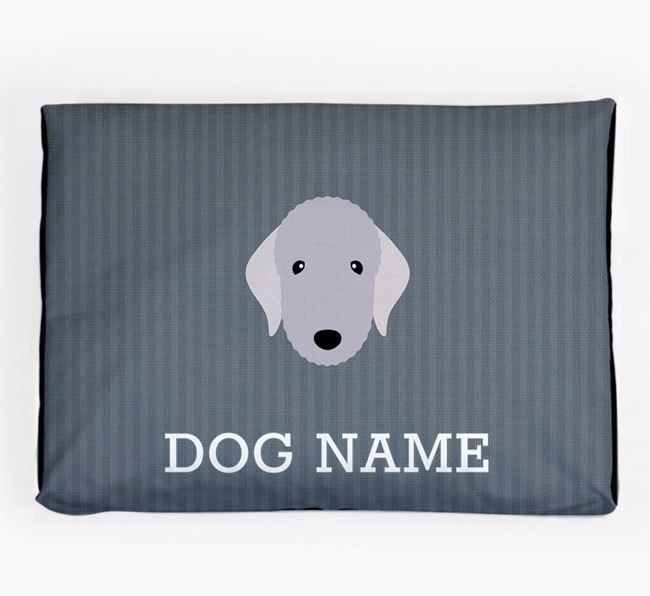 Personalised Dog Bed for your Bedlington Terrier