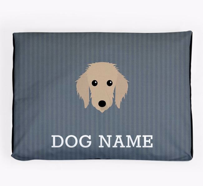 Personalised Dog Bed for your Bedlington Whippet
