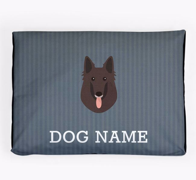 Personalised Dog Bed for your Belgian Groenendael