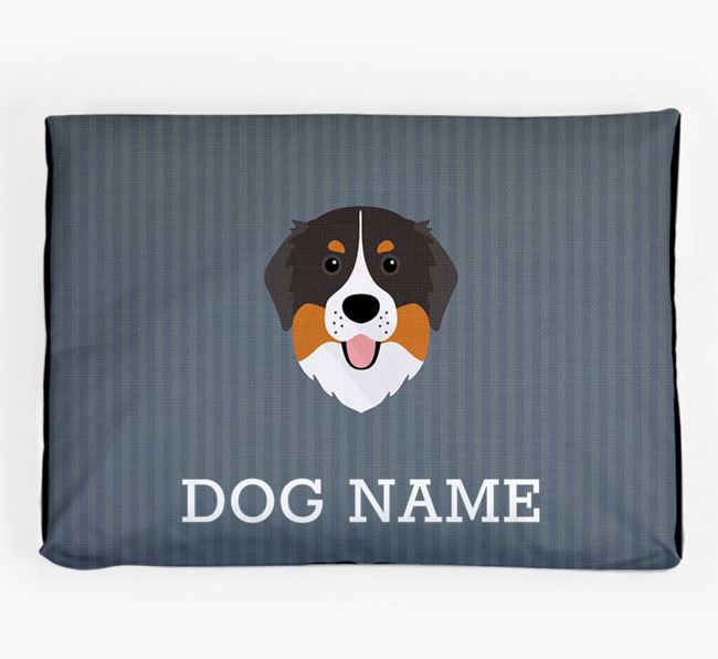 Personalised Dog Bed for your Bernese Mountain Dog