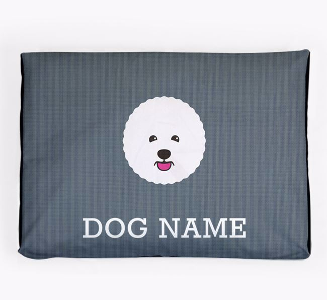 Personalised Dog Bed for your Bichon Frise