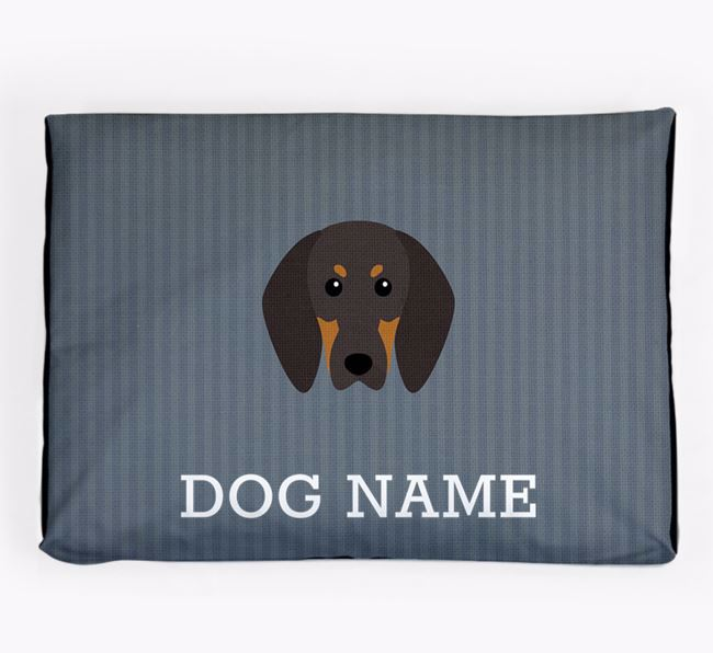 Personalised Dog Bed for your Black and Tan Coonhound