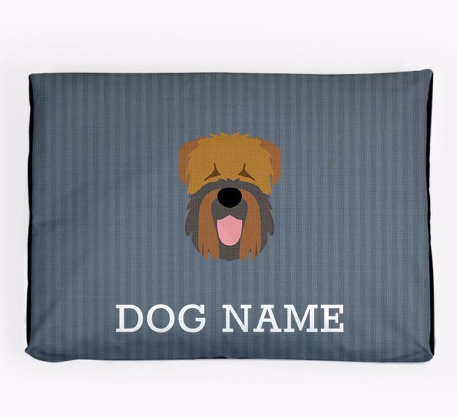 Personalised Dog Bed for your Black Russian Terrier