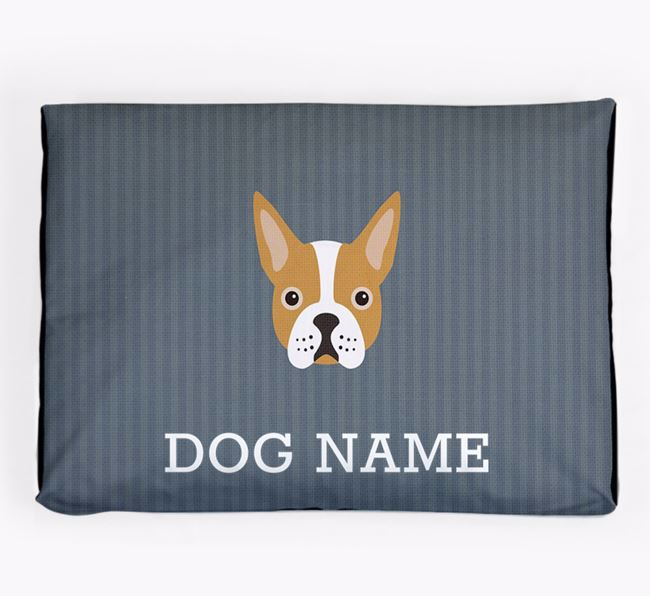 Personalised Dog Bed for your Boston Terrier
