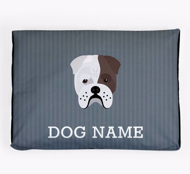 Personalised Dog Bed for your Bull Pei