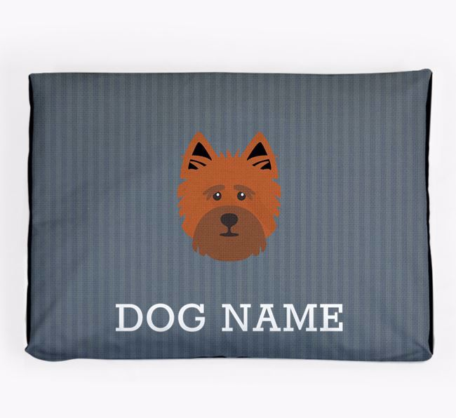 Personalised Dog Bed for your Cairn Terrier