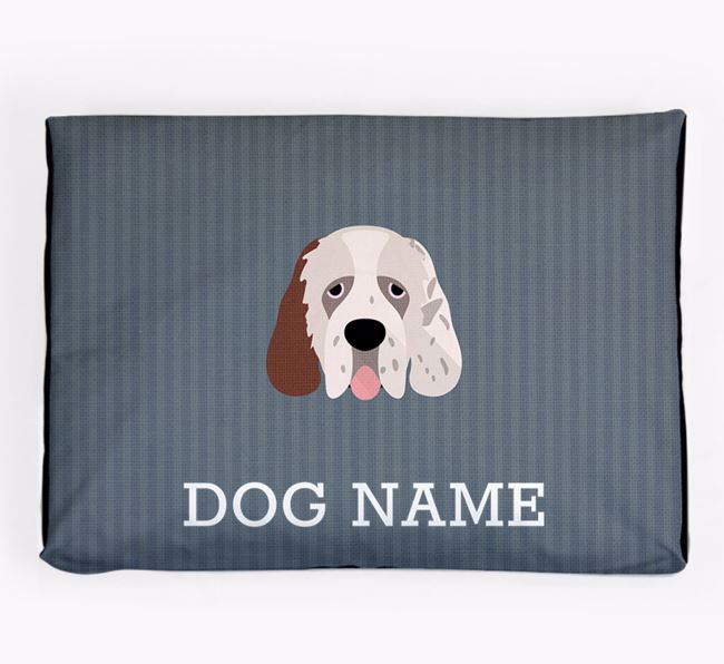 Personalised Dog Bed for your Clumber Spaniel