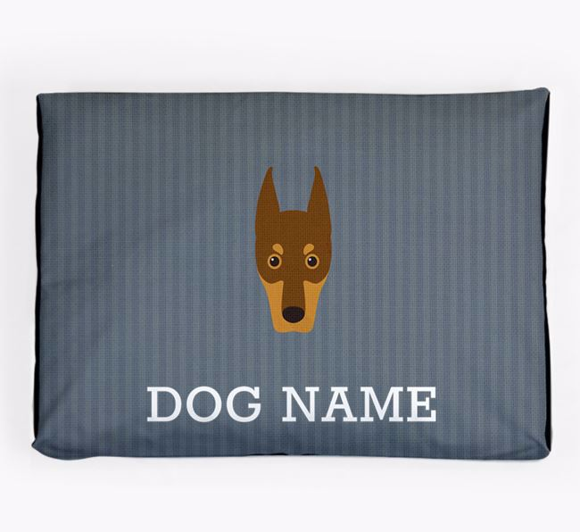 Personalised Dog Bed for your Dobermann