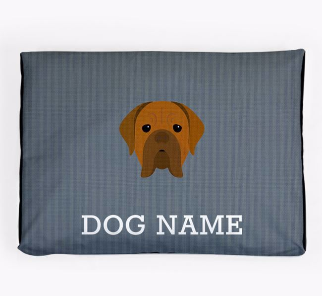 Personalised Dog Bed for your Dogue de Bordeaux
