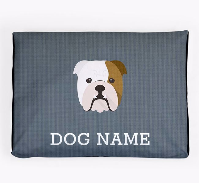 Personalised Dog Bed for your English Bulldog