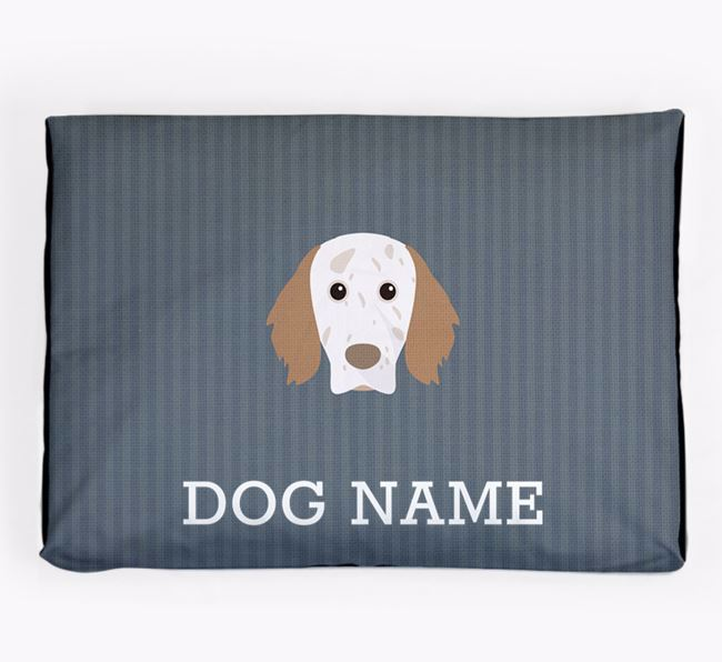 Personalised Dog Bed for your English Setter