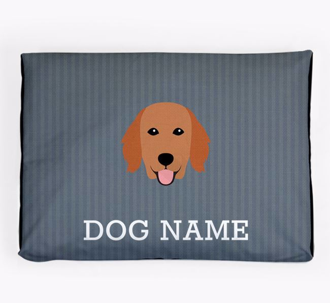 Personalised Dog Bed for your Flat-Coated Retriever