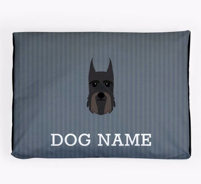 Personalised Dog Bed for your Giant Schnauzer