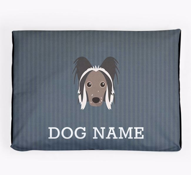Personalised Dog Bed for your Hairless Chinese Crested