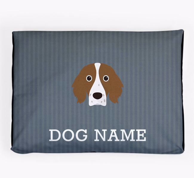 Personalised Dog Bed for your Irish Red & White Setter