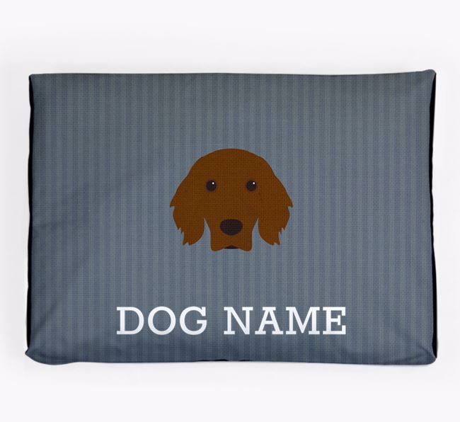Personalised Dog Bed for your Irish Setter