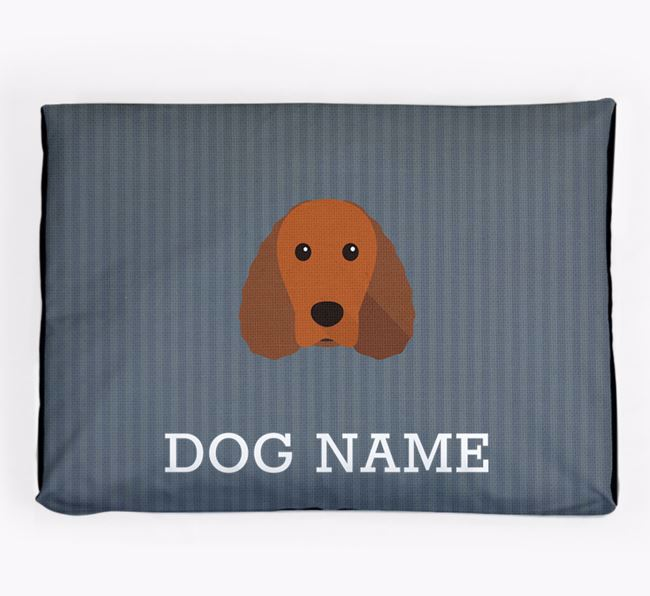 Personalised Dog Bed for your Irish Water Spaniel