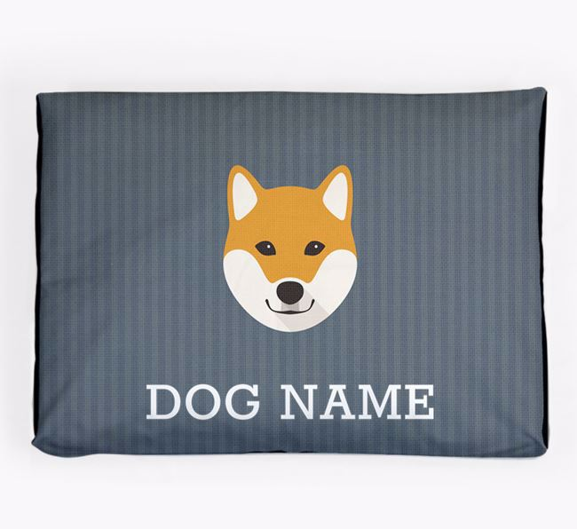 Personalised Dog Bed for your Japanese Shiba