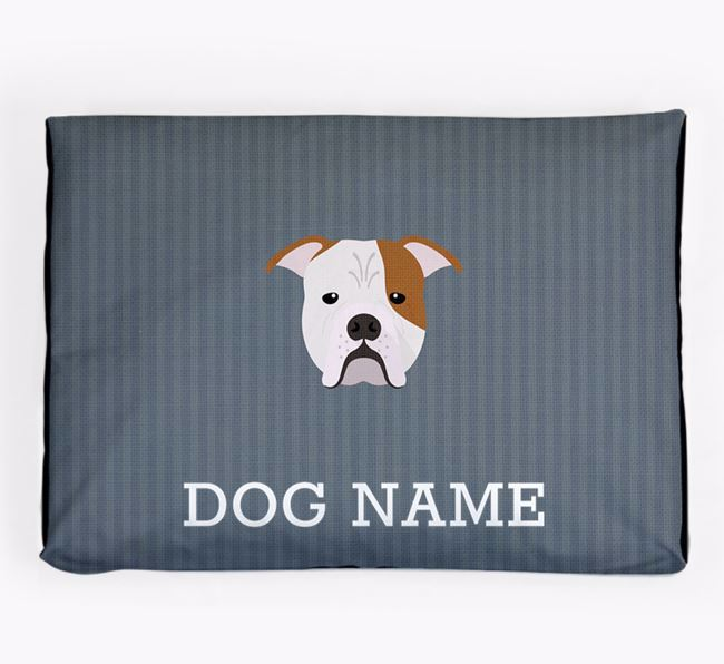Personalised Dog Bed for your Johnson American Bulldog