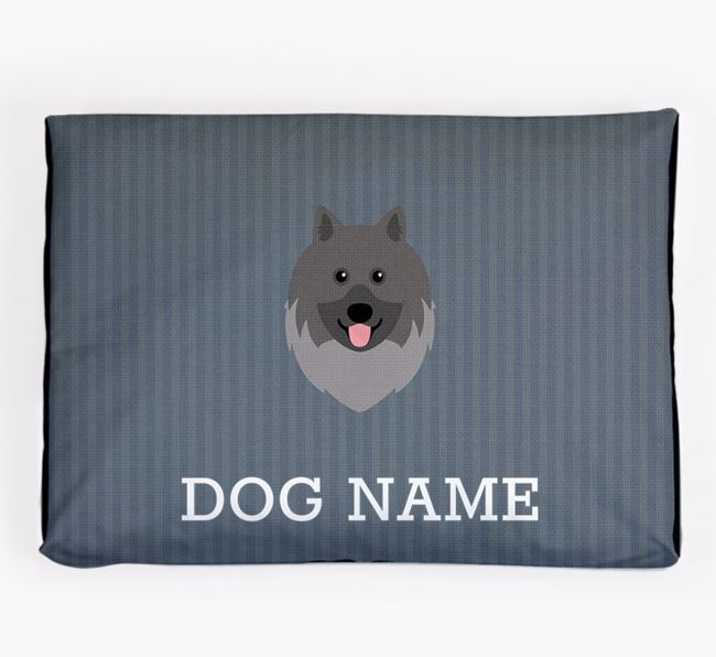 Personalised Dog Bed for your Keeshond