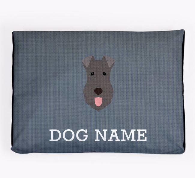 Personalised Dog Bed for your Kerry Blue Terrier