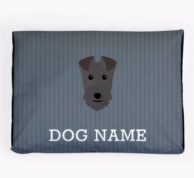 Personalised Dog Bed for your Lakeland Terrier