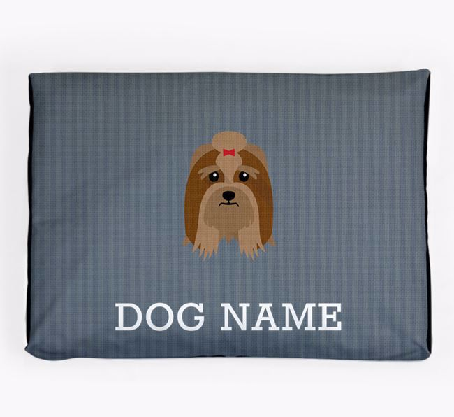 Personalised Dog Bed for your Lhasa Apso