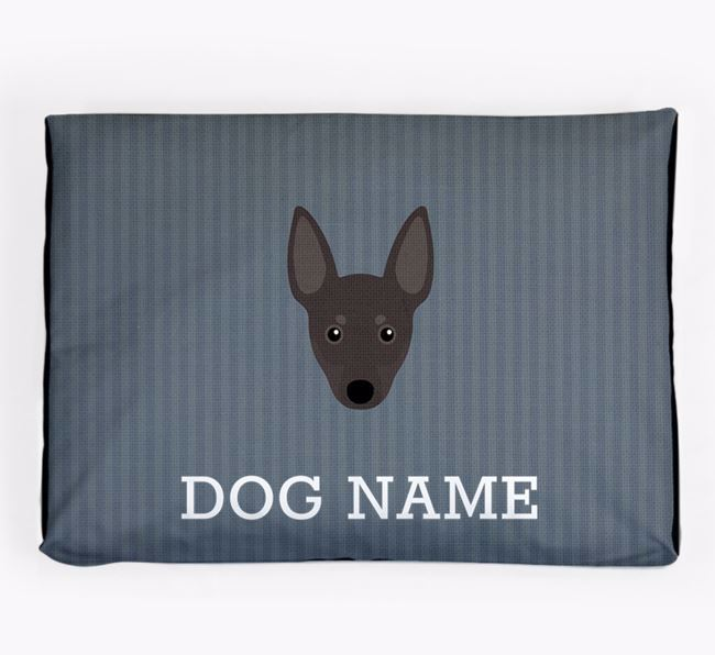 Personalised Dog Bed for your Manchester Terrier