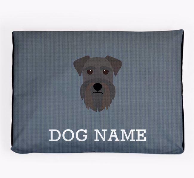Personalised Dog Bed for your Miniature Schnauzer