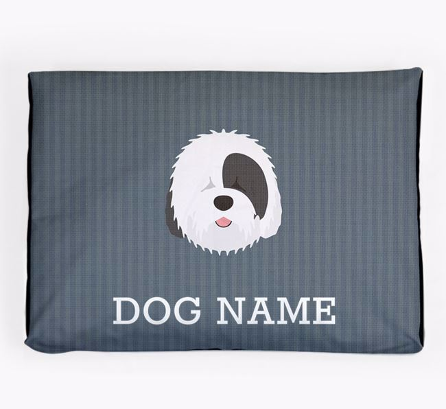 Personalised Dog Bed for your Old English Sheepdog