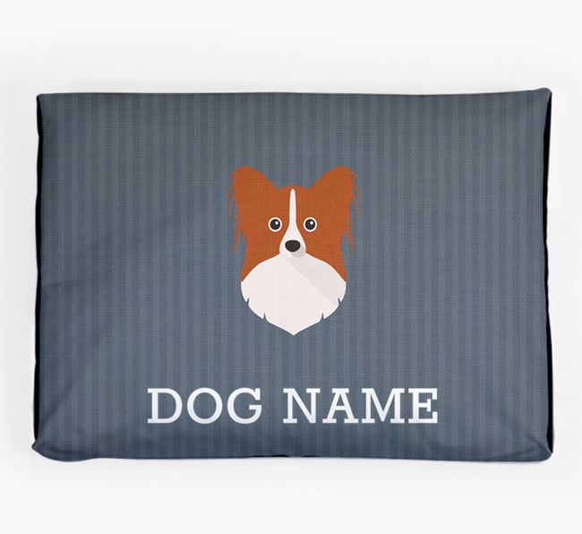 Personalised Dog Bed for your Papillon