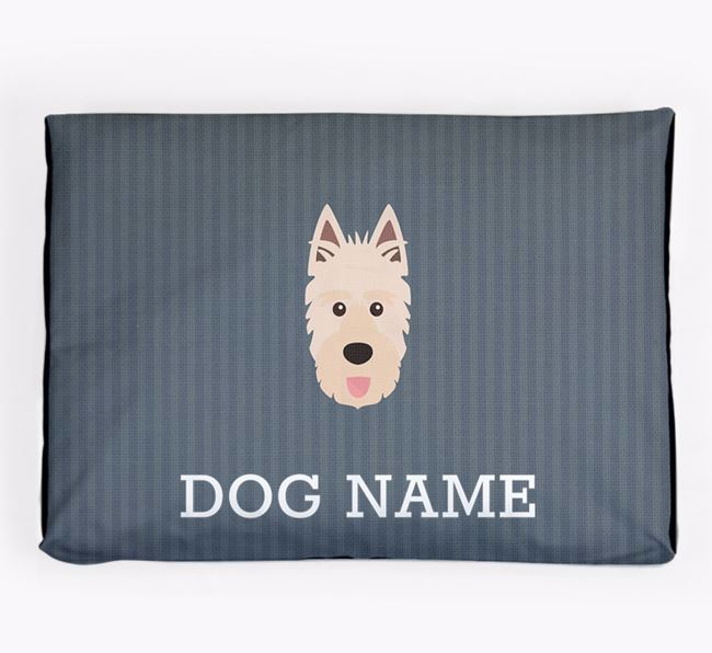 Personalised Dog Bed for your Picardy Sheepdog