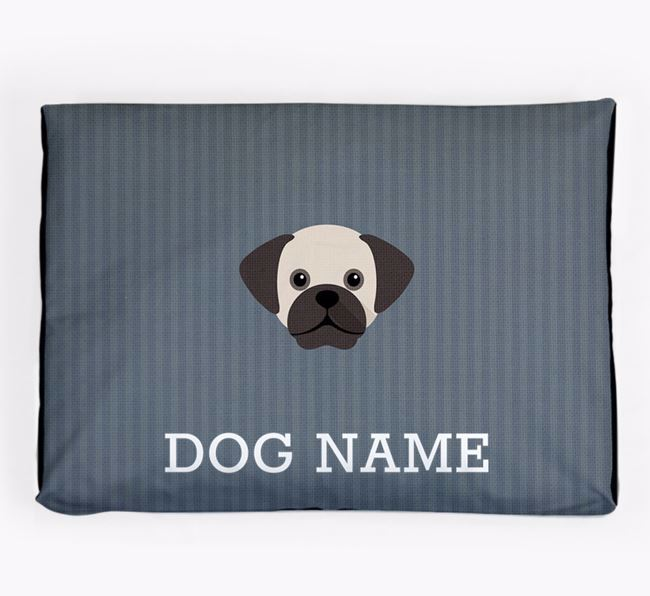 Personalised Dog Bed for your Puggle