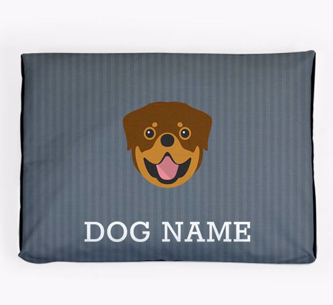 Personalised Dog Bed for your Rottweiler