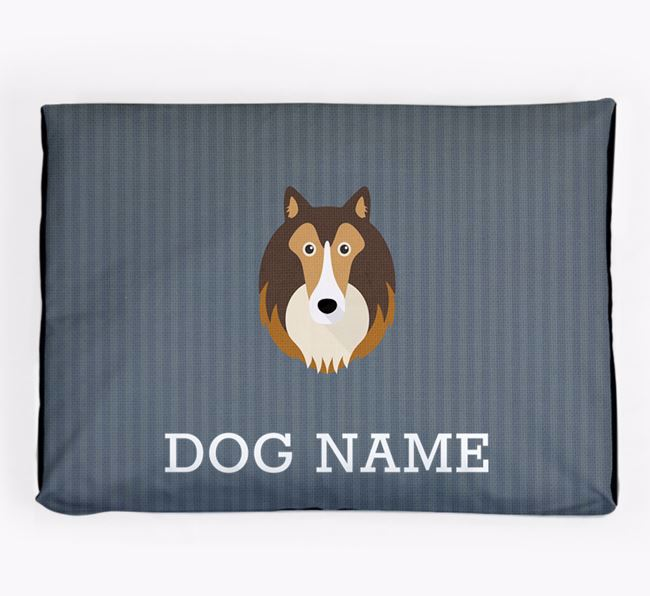 Personalised Dog Bed for your Rough Collie