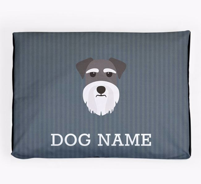 Personalised Dog Bed for your Schnauzer