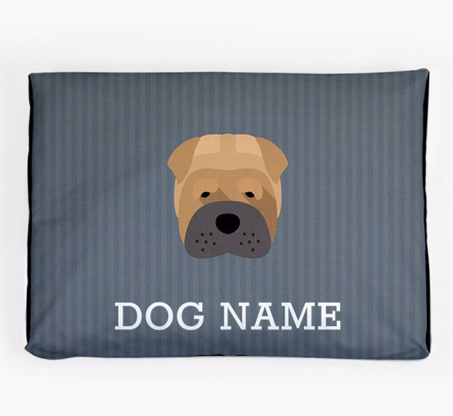 Personalised Dog Bed for your Shar Pei