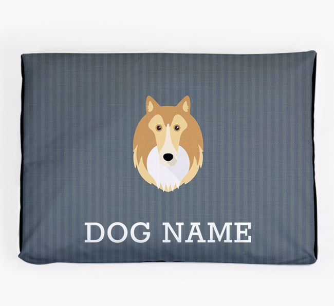 Personalised Dog Bed for your Shetland Sheepdog
