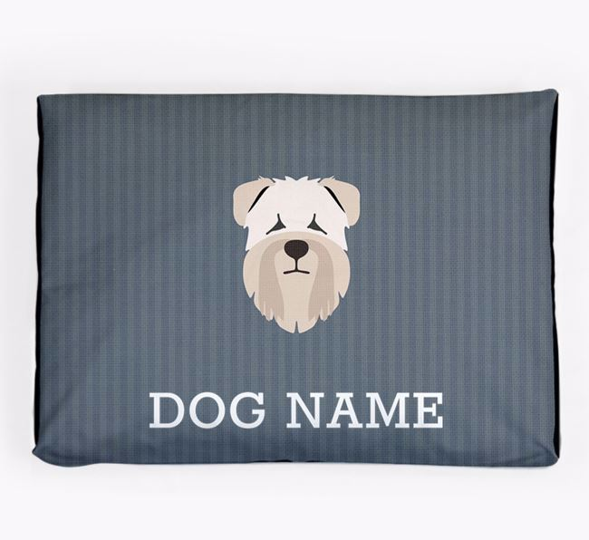 Personalised Dog Bed for your Soft Coated Wheaten Terrier