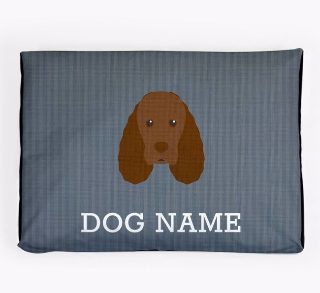 Personalised Dog Bed for your Sussex Spaniel