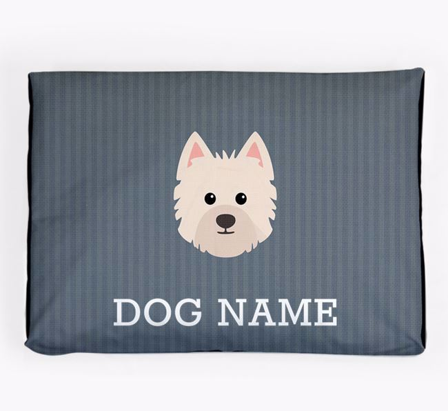 Personalised Dog Bed for your Westiepoo