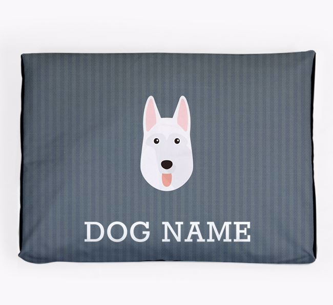 Personalised Dog Bed for your White Swiss Shepherd Dog
